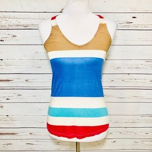{SPLENDID} Multi Color Block Stripe Tank